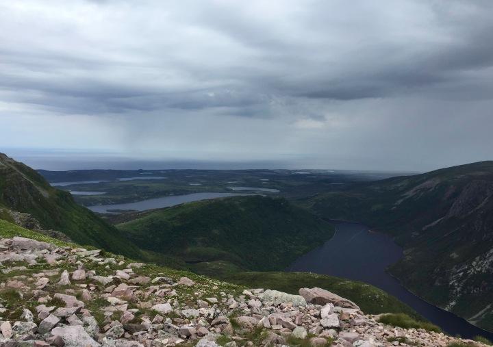 View Atop Gros Morne Mountain - 10 Mile Pond Gorge